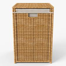 Wicker Laundry Basket With Lid Ikea Laundry Basket Ikea Branas By Markelos 3docean