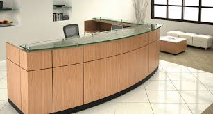 How To Make A Reception Desk Reception Desk Furniture With Glass On Top Make Reception Desk