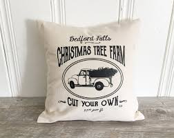 christmas tree farm pillow cover christmas pillow case holiday