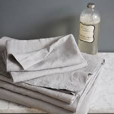 Linen Bedding Sets Belgian Flax Linen Sheet Set Platinum West Elm