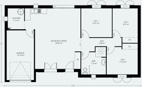 plan maison plain pied 2 chambres garage plan maison etage 4 chambres gratuit génial plan maison plain pied 2