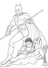 batman and robin coloring pages for kids to print out 919 batman