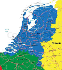 netherlands map cities highly detailed vector map of netherlands with administrative
