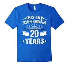 20 year wedding anniversary 20th wedding anniversary gifts 20 year shirt for him goatstee