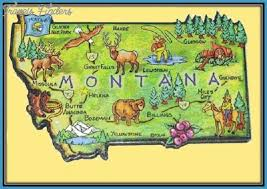 Montana travel maps images Montana attractions map montana map jpg