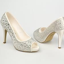 chaussure mariage ivoire en satin à bout ouvert talon 11 cm - Chaussure De Mariage
