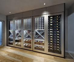 contempory contemporary wine cellar display modern design wine storage
