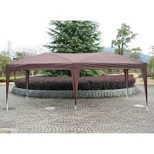 Outdoor Patio Gazebo by Outsunny 10 U0027x20 U0027 Foldable Pop Up Party Tent Outdoor Patio Gazebo