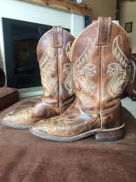 womens boots used used s justin cowboy boot size 7