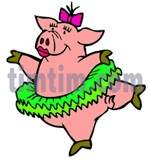 free drawing ballerina pig category dance timtim