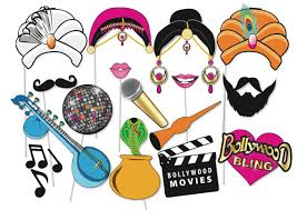 printable hippie photo booth props bollywood party photo booth props set 16 piece printable