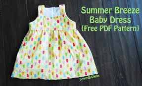 pattern dress pdf summer breeze baby dress free pdf pattern shwin and shwin