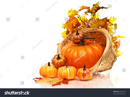 Small Pumpkins Large Pumpkin Small Pumpkins Wicker Basket Stock Photo 63015679