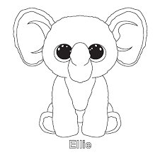 ellie and other ty beenie boo coloring sheets beanie baby party