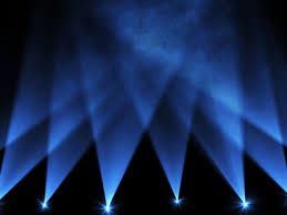Light Show Lights Watch As Eight Blue Intelligent Lights Slowly Move Up And Down