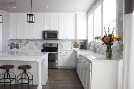 diy tile kitchen backsplash my diy marble backsplash honeybear diy tile kitchen