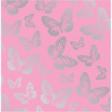 fine decor fun4walls butterfly metallic wallpaper pink silver
