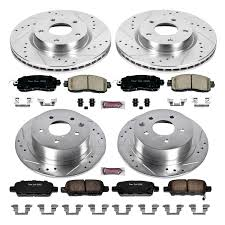 nissan altima 2013 rear brake pads powerstop k6495 1 click z23 evolution sport drilled and slotted