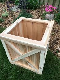 Patio Planter Box Plans by Furniture Cedar Planter Box Planter Wood Planter Cedar Box
