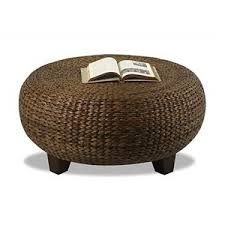 round wicker end table coffee table cool rattan round coffee table with stools hi res