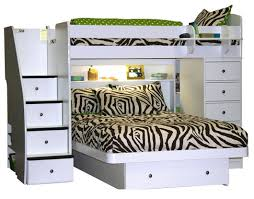 berg furniture sierra twin over full loft bed with chest and stairs