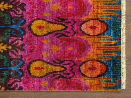 Sari Rug Rugsville Rug Sari Silk 13865 Red Green Gold Rugsville Co Uk