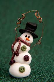 topsy turvy clay snowman ornament cute idea to make ornaments for