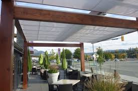 Cantilever Awnings Cantilevered Retractable Canopies Ora Restaurant Shadefx Canopies
