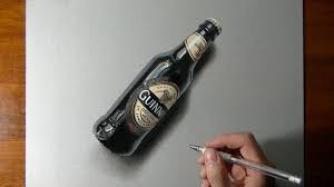 watch on youtube how i draw a bottle of guinness beer my drawing