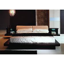 Floating Headboard With Nightstands by Napoli Modern Platform Bedroom Set