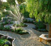 mediterranean gravel garden landscape asian with zen garden rock
