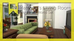 the matthew u0027s living room sims 4 room by room boy meets world