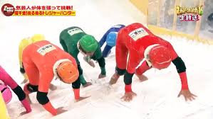 a hilarious japanese game show featuring contestants struggling to