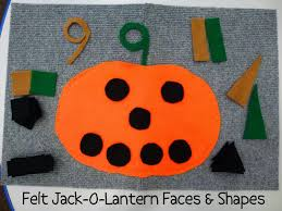 Halloween Crafts For Children by Felt Jack O Lantern With Shapes Choices For Children