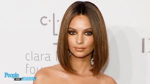 emily ratajkowski debuts new lob and fresh hair color at rihanna u0027s