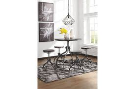 odium counter height dining room table and bar stools set of 5