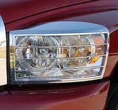 dodge ram headlight 2006 2007 2008 dodge ram chrome plated headlight bezels set