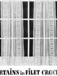 Crochet Lace Curtain Pattern 1930s 40s Filet Lace Crochet Curtains Pattern