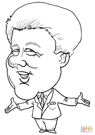 bill clinton caricature coloring page free printable coloring pages