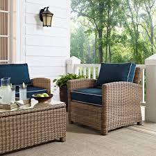 Crosley Furniture Outdoor Crosley Ko70021wb Nv Bradenton Collection 5 Piece Outdoor Wicker