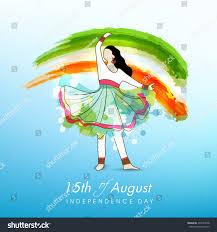 Dancing Flags Young Kathak Dance Dancing Pose On Stock Vector 204773638