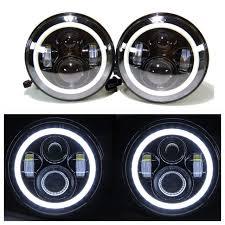 Jeep Wrangler Led Light Bar by Jeep Tj Led Projectors White Halos U0026 Light Bar Package Leds 4 Less