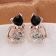 cat earrings shiny cat earrings catfanworld