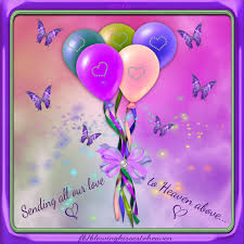 send a birthday gram sending balloons to heaven filed with to my angel balloons
