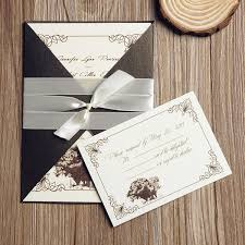 wedding invitations nj rustic tree pocket wedding invitations with ribbons inps121
