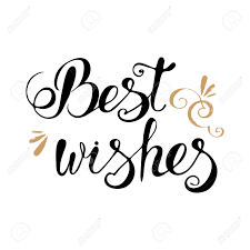 best wishes lettering typography clip for cards royalty free