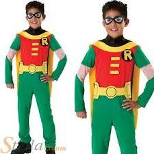 Teenage Male Halloween Costumes Boys Robin Teen Titans Licensed Batman Halloween Child Fancy Dress