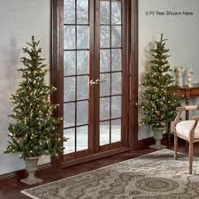 prelit lighted flat back tree choice of 3 heights