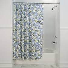 Blue Floral Curtains Hydrangea Floral Print Tailored Valance Curtain Window Toppers