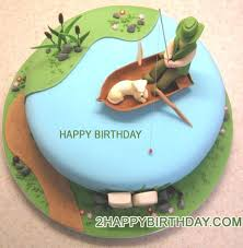 fish birthday cakes fishing birthday cake image with name 2happybirthday